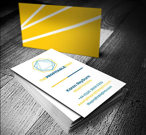 Image of a Profitable Firm Business Card