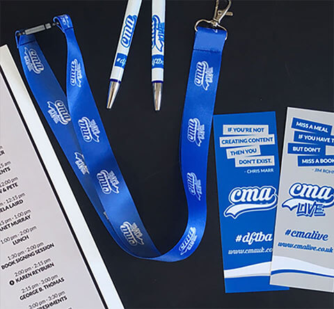 Image of CMA Lanyard and Bookmarks