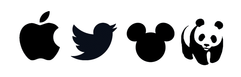 logos - Apple, Twitter, Disney, World Wildlife Fund